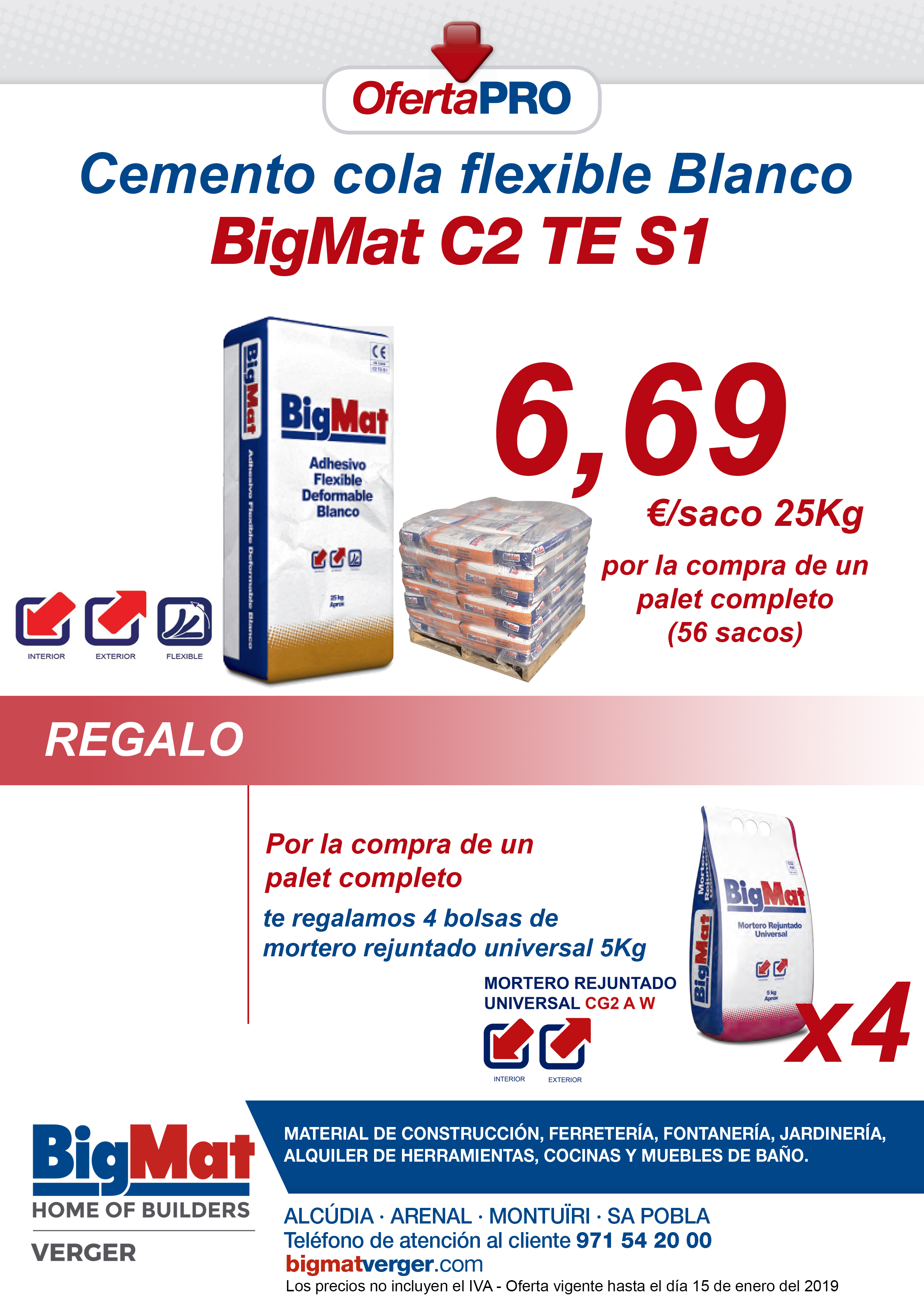 OFERTA CEMENTO COLA FLEXIBLE